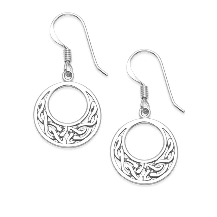 NEW: Circle Celtic Dangle Earrings