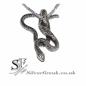 Coiled Snake Pendant Necklace