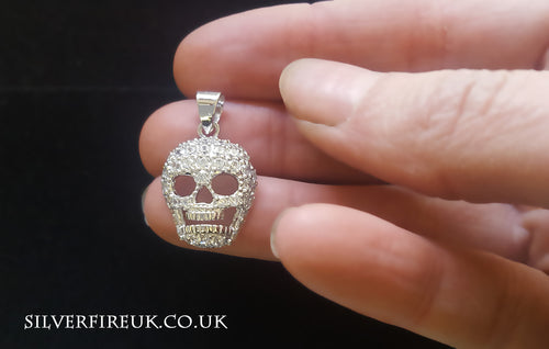 Crystal Skull Necklace Jewellery