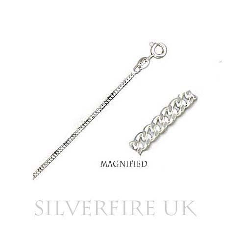 Fine Curb Chain Necklace | Sterling Silver Curb Chain