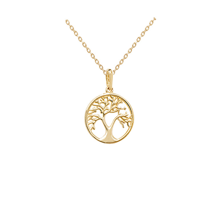 small tree of life gold necklace