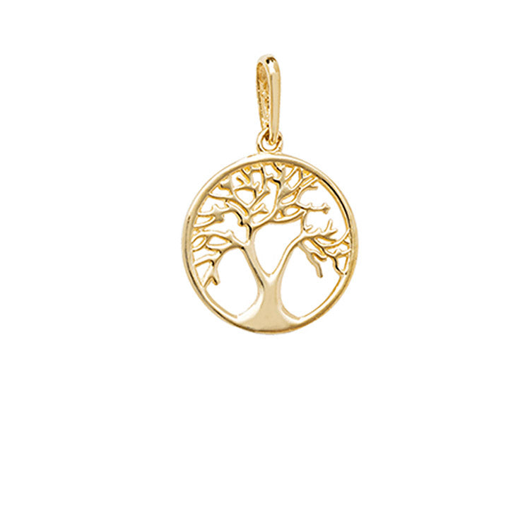 Small gold tree of life necklace