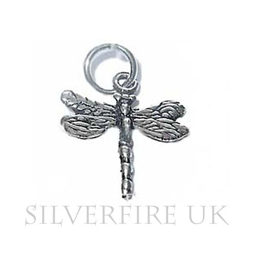 Dragonfly Silver Charm, Sterling Silver Dragonfly Charms