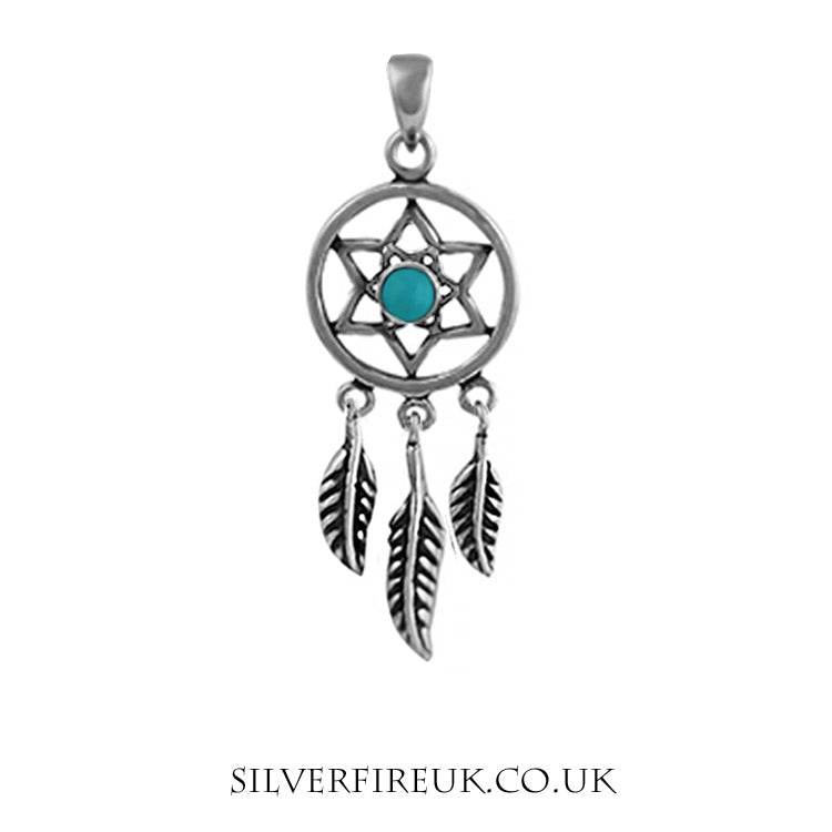 NEW: Dreamcatcher Necklace With turquoise