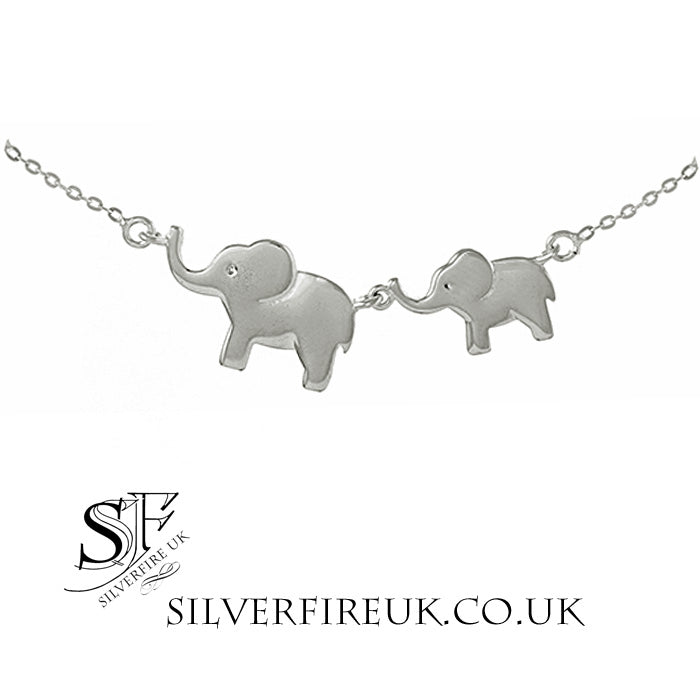 Elephant Necklace, Mummy ands Baby Elephant