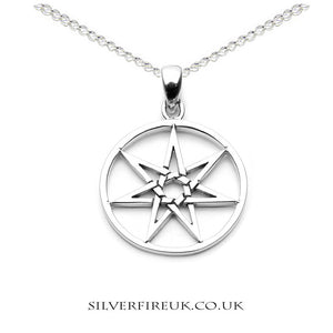 elven necklace 7 pointed star