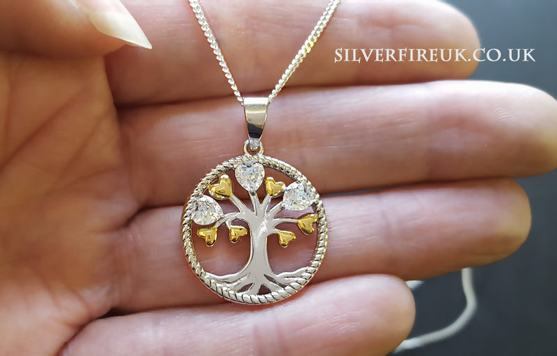 forever love tree necklace