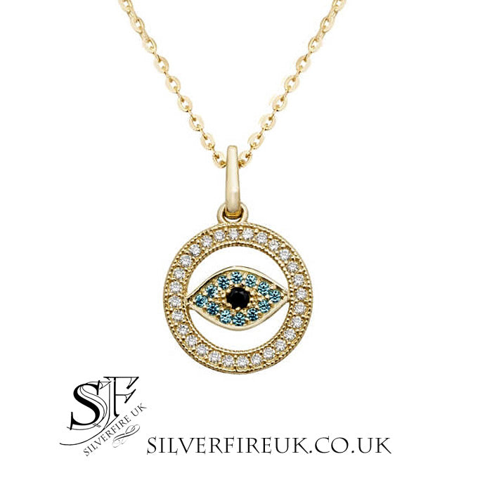Evil Eye Gold Necklace Small 9ct Gold All Seeing Eye Necklace