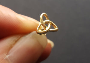 gold triquetra trinity earrings