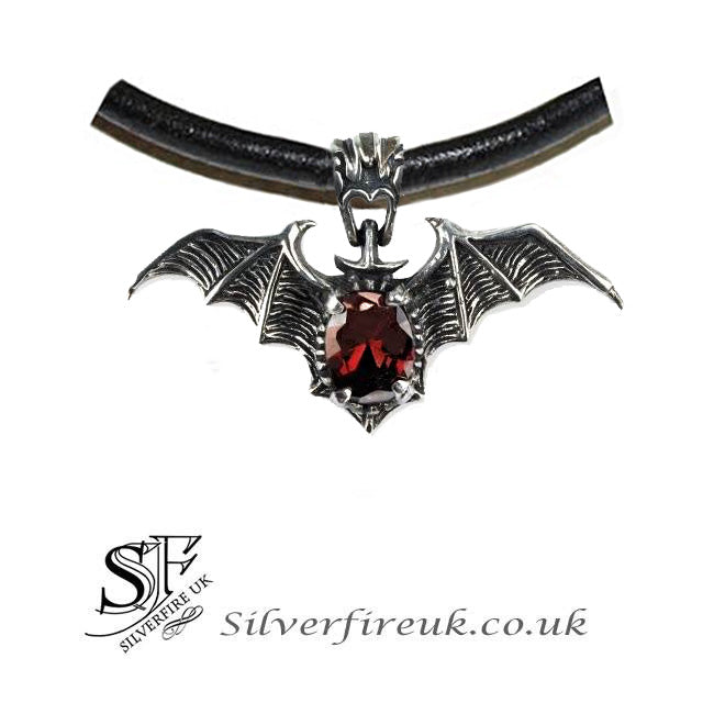 gothic bat choker, bat red jewel choker necklace