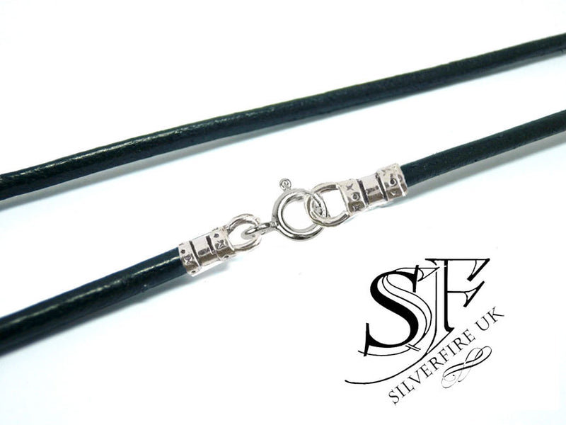 2mm Greek leather cord necklace, black