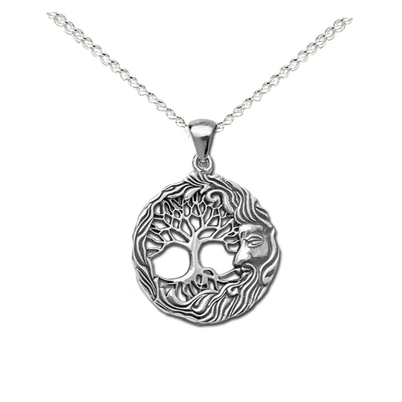 green man tree necklace