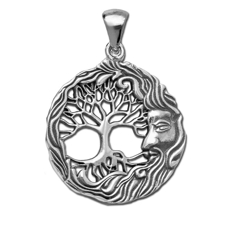 green man tree of life pendant
