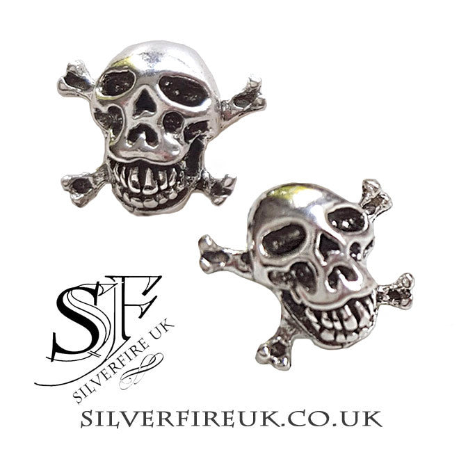 Skull crossbones earrings uk