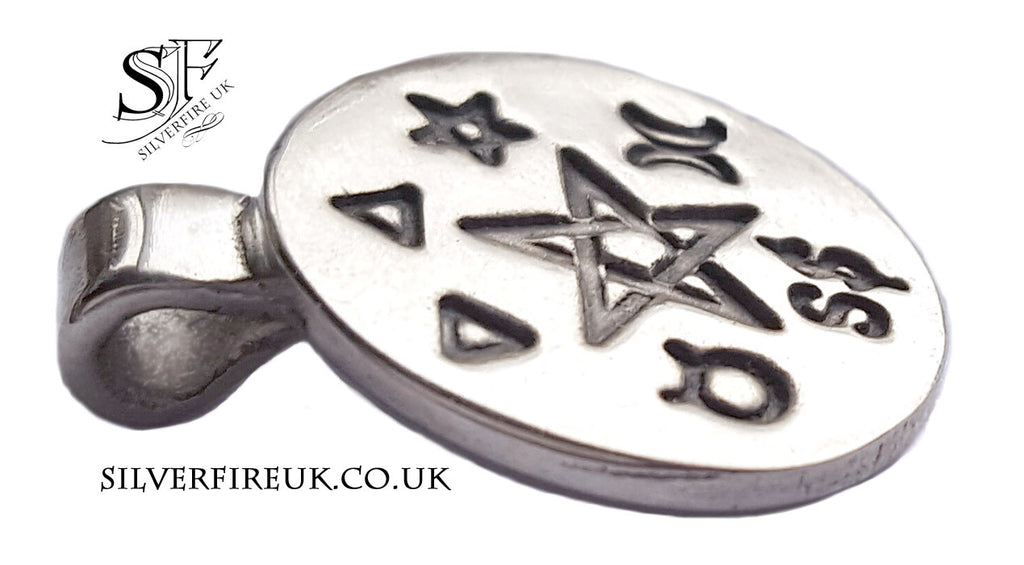Silver Pentacle Pendant, Pagan jewellery