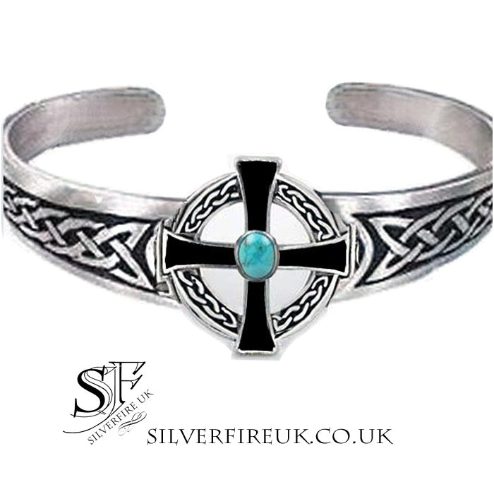 Celtic Cross Cuff Bangle
