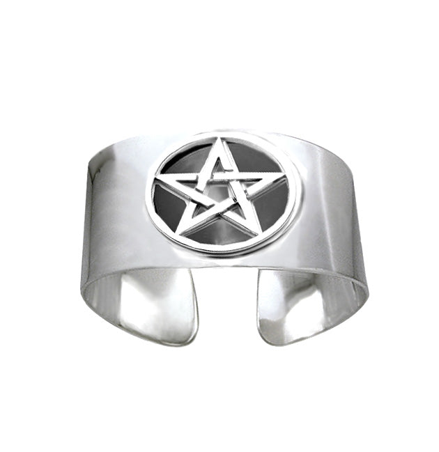 wide band pentagram bangle, chunky