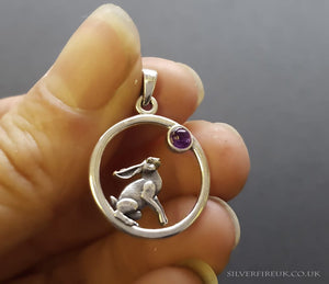 NEW: Hare Necklace With Amethyst