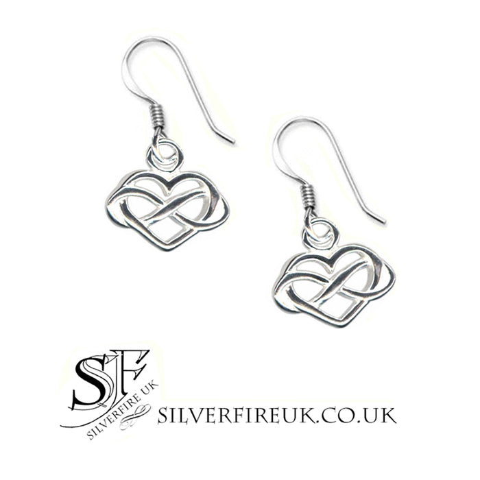 Heart Infinity Earrings