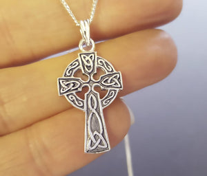iona cross celtic necklace