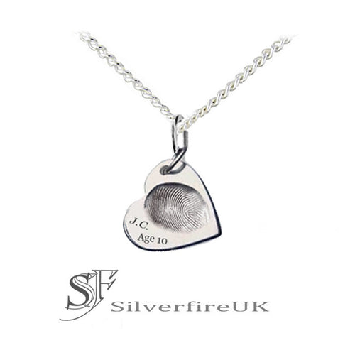 Custom Fingerprint Heart Necklace