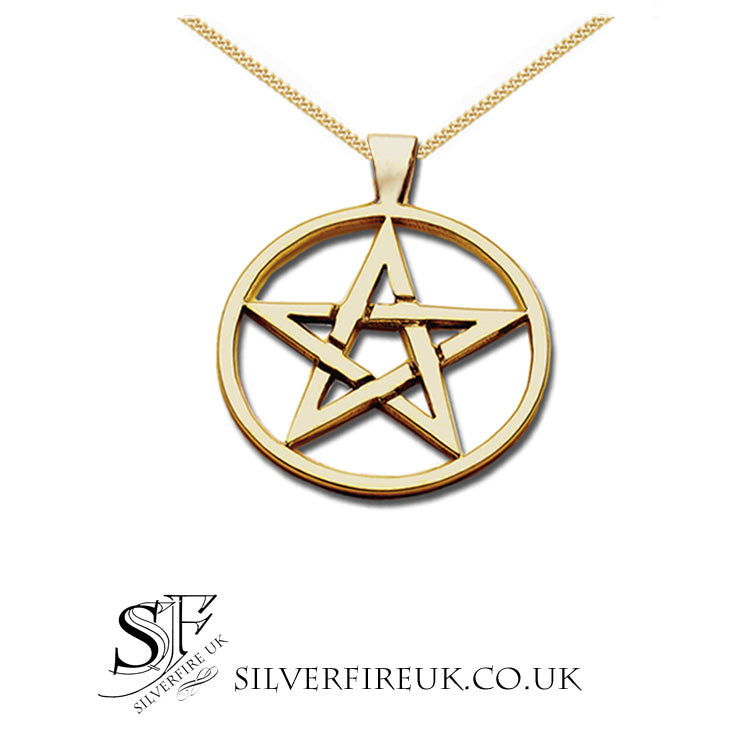 large gold pentagram necklace