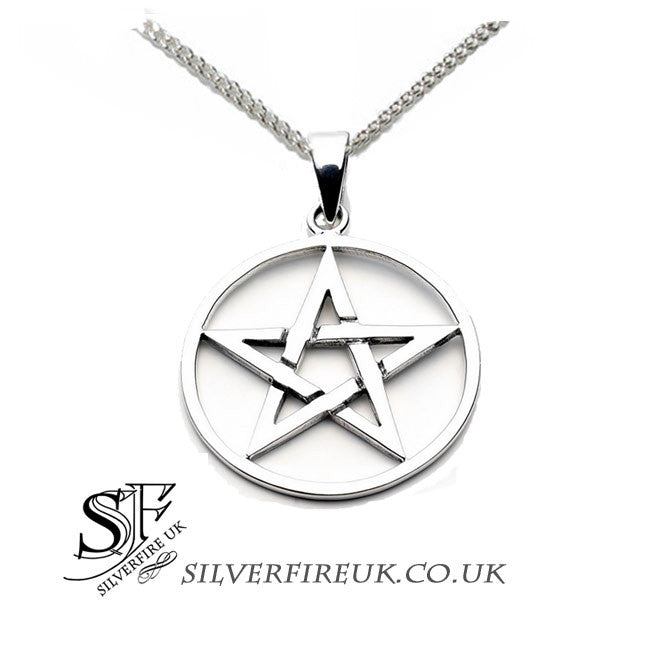 pentacle necklace, medium large pentagram