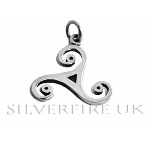 Wild Triskele Celtic Swirl Necklace