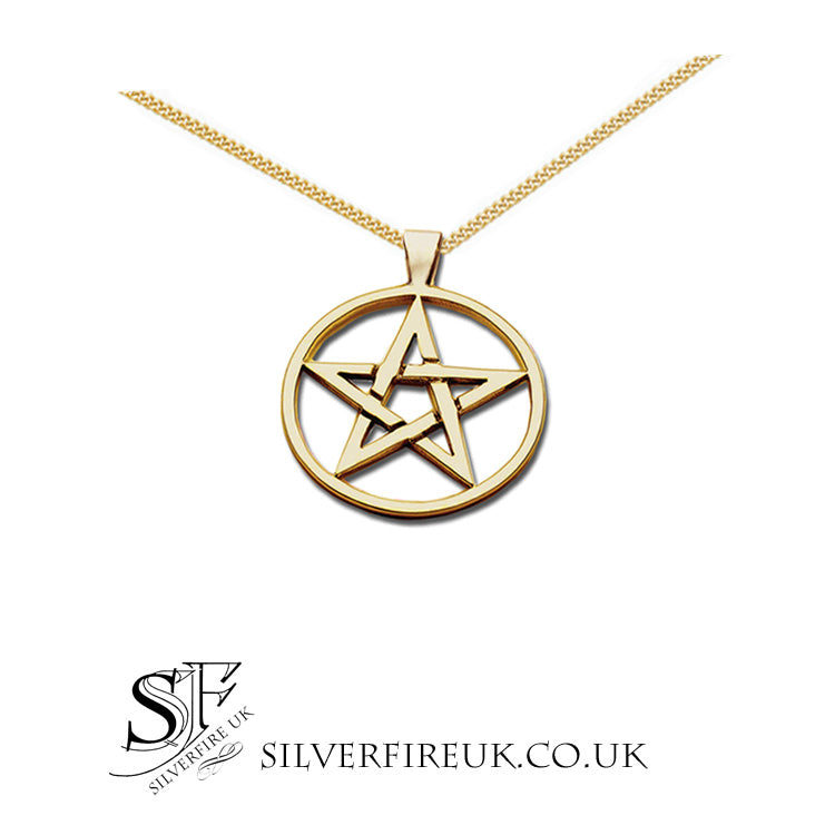 gold pentagram necklace 2cm