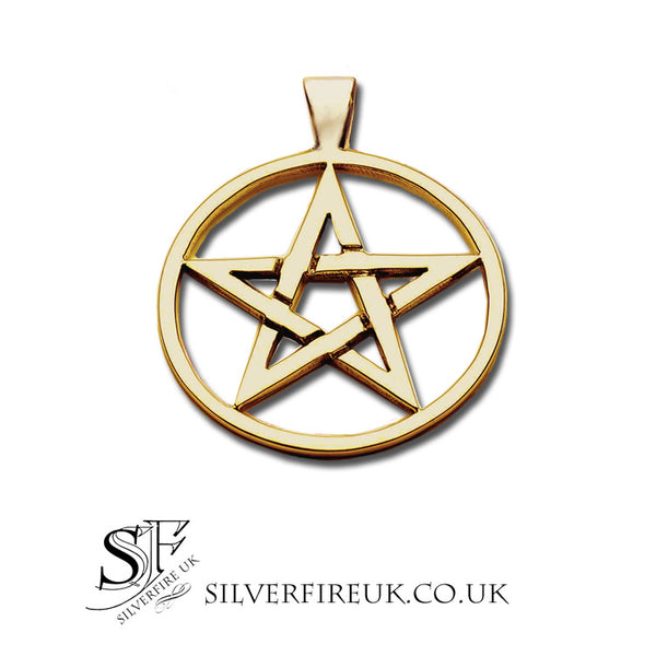 gold pentacle pendant