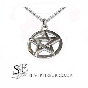 pentacle necklace sterling silver