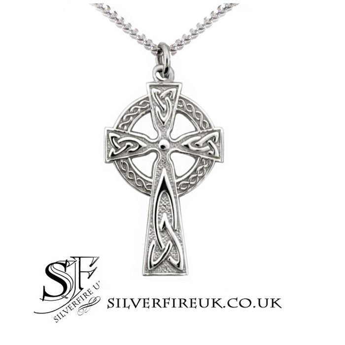 Mens Celtic Cross Necklace