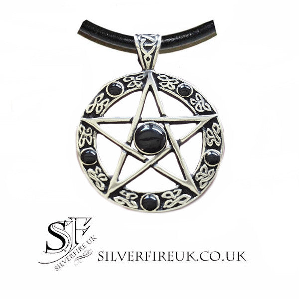 black pentagram necklace for men