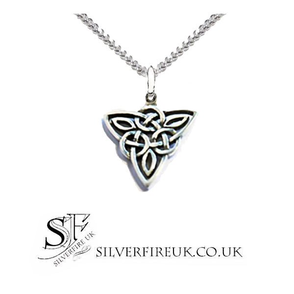 silver trinity necklace for men