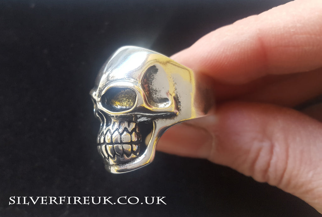 Mens skull ring jewellery