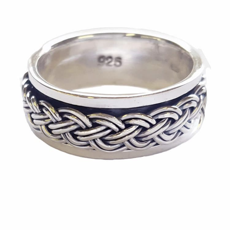 mens spinner ring, celtic