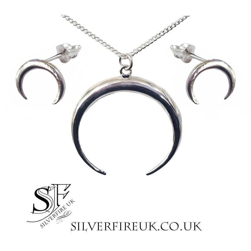 Moon Goddess Horn Jewellery Set