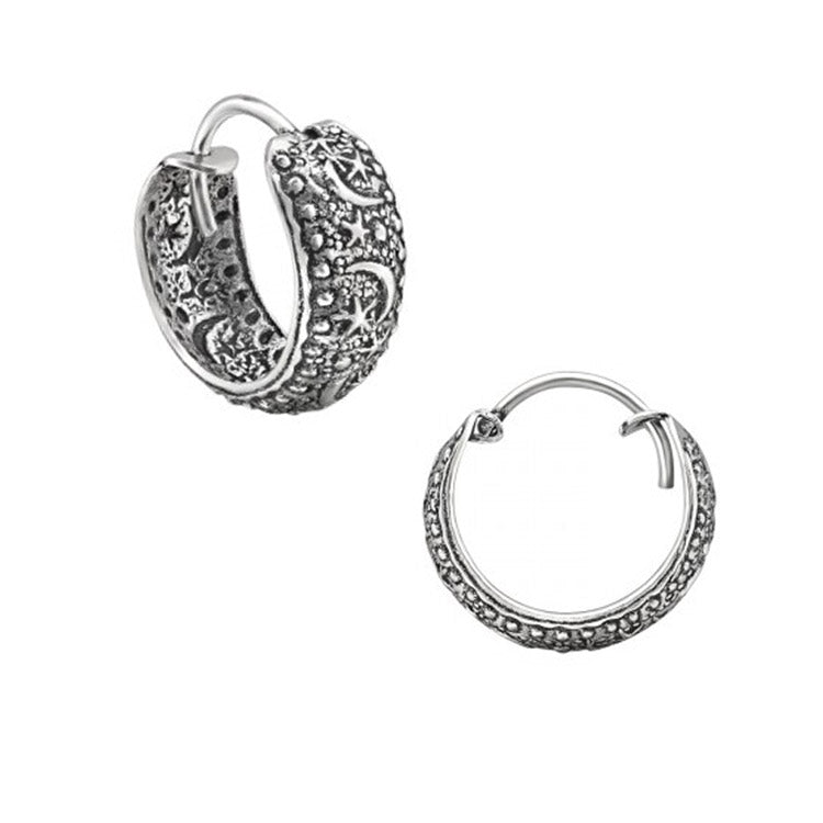 celestial hoop earrings