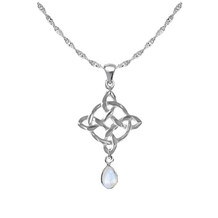 Celtic necklace moonstone