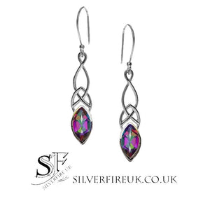 mystic topaz earrings, celtic