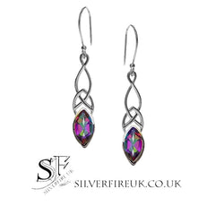 mystic topaz celtic earrings