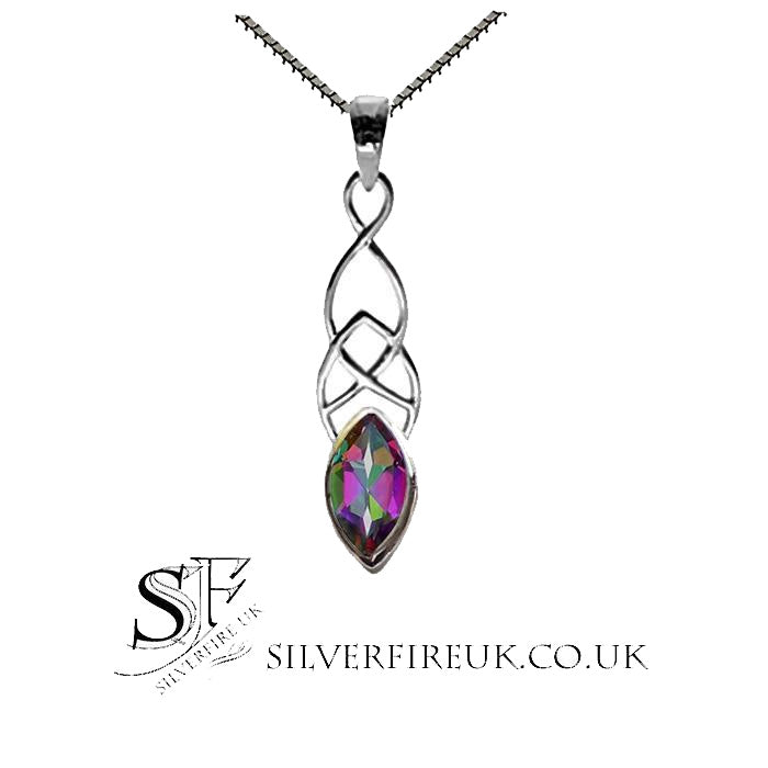 Mystic Topaz Celtic Necklace