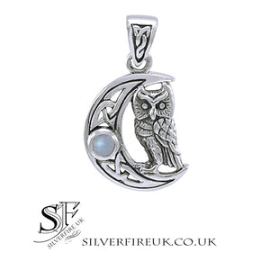 Owl Moon Celtic Pendant