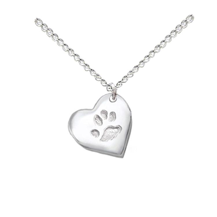 paw print custom necklace