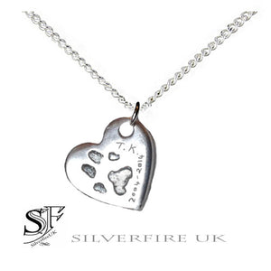 Heart Paw Print Necklace | Paw Print Jewellery