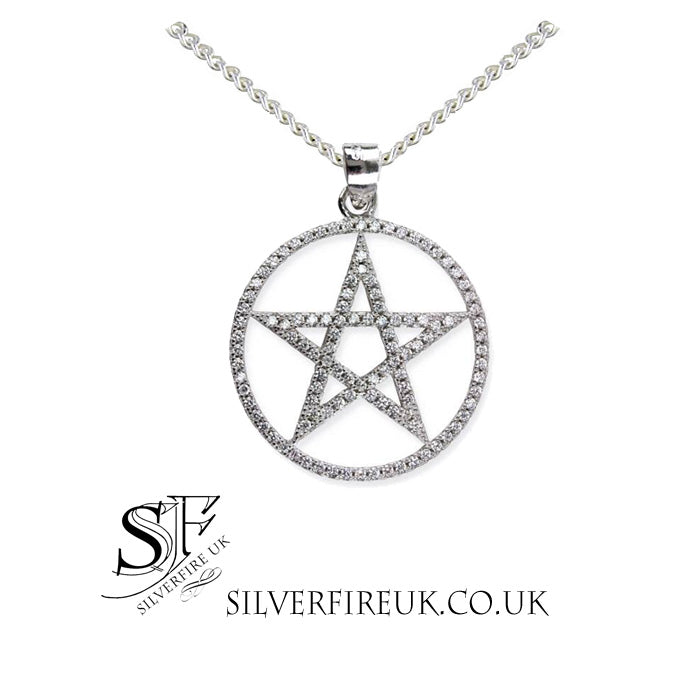 Pentagram Necklace Crystal Zirconia