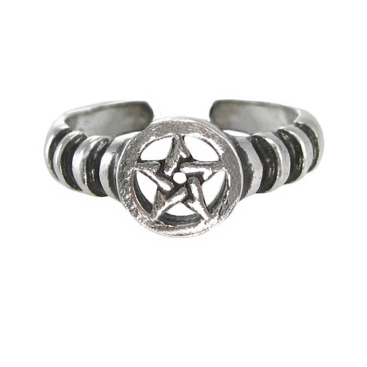 pentagram midi ring, toe