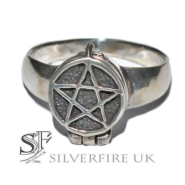 Pentagram Poison Ring | Pagan Poison Rings