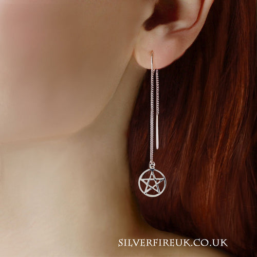 Pentagram Threader Earrings