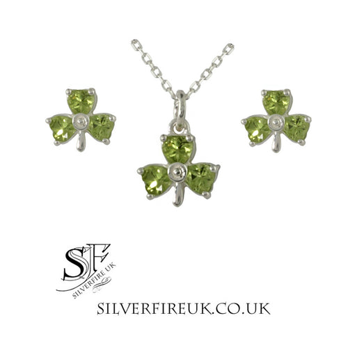Peridot Shamrock Jewellery Set